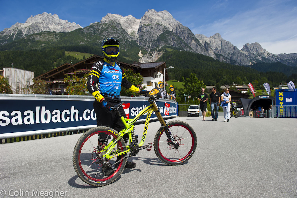 Bryn Atkinson with his Norco Aurum.