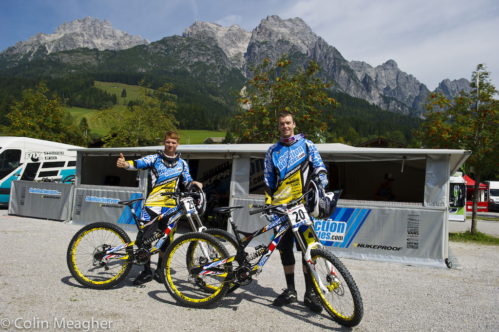 Joe Smith and Matt Simmonds of CRC with their bikes.