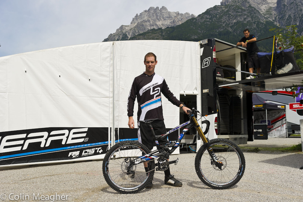 Cam Cole with his Worlds bike.