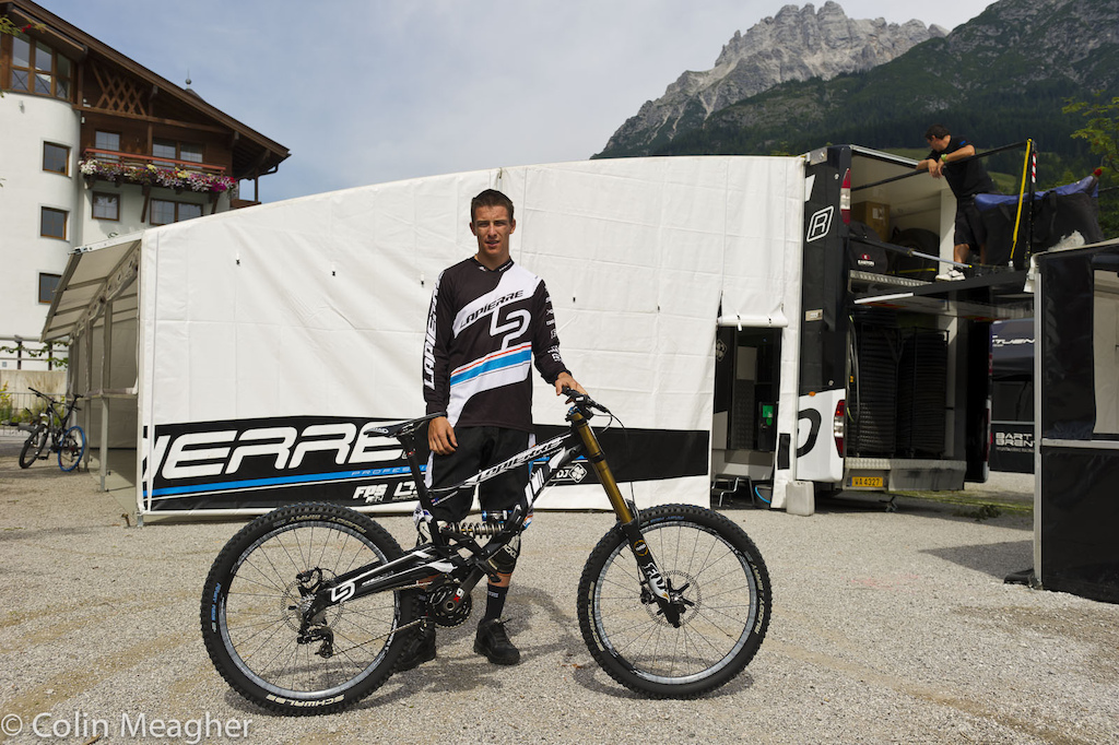 Blenky with his Worlds bike..