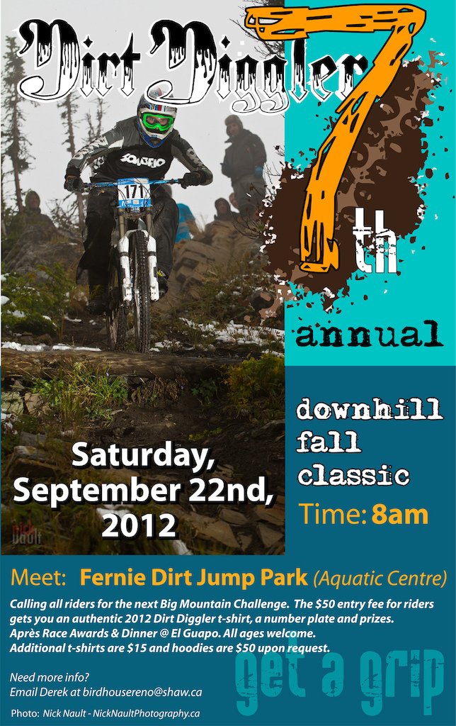7th Annual Dirt Diggler Fall Classic Poster