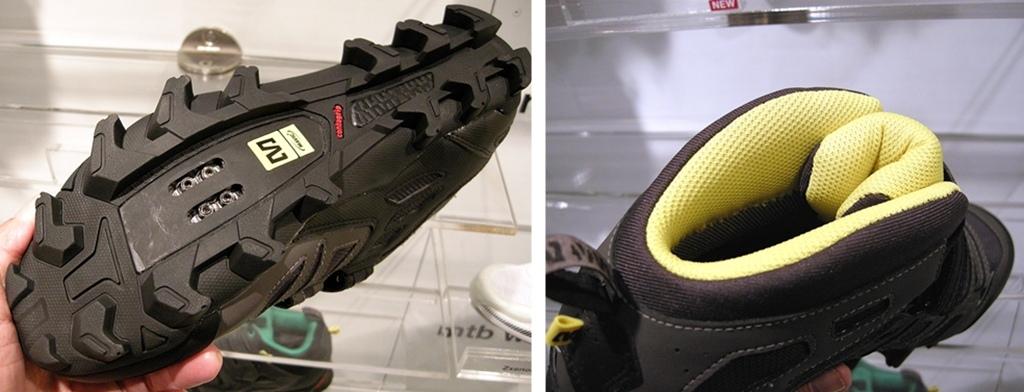 Mavic Scree shoe sole and padded heel