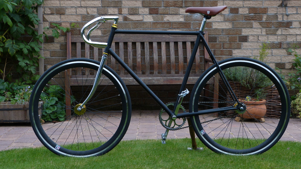 New fixie build, still to tape bars and attach raleigh emblem. Yours for £375
