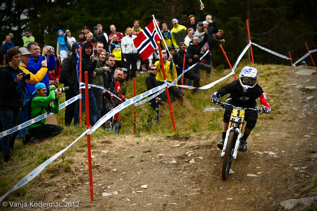 Gee Atherton. All eyes will be on him and Greg tomorrow!