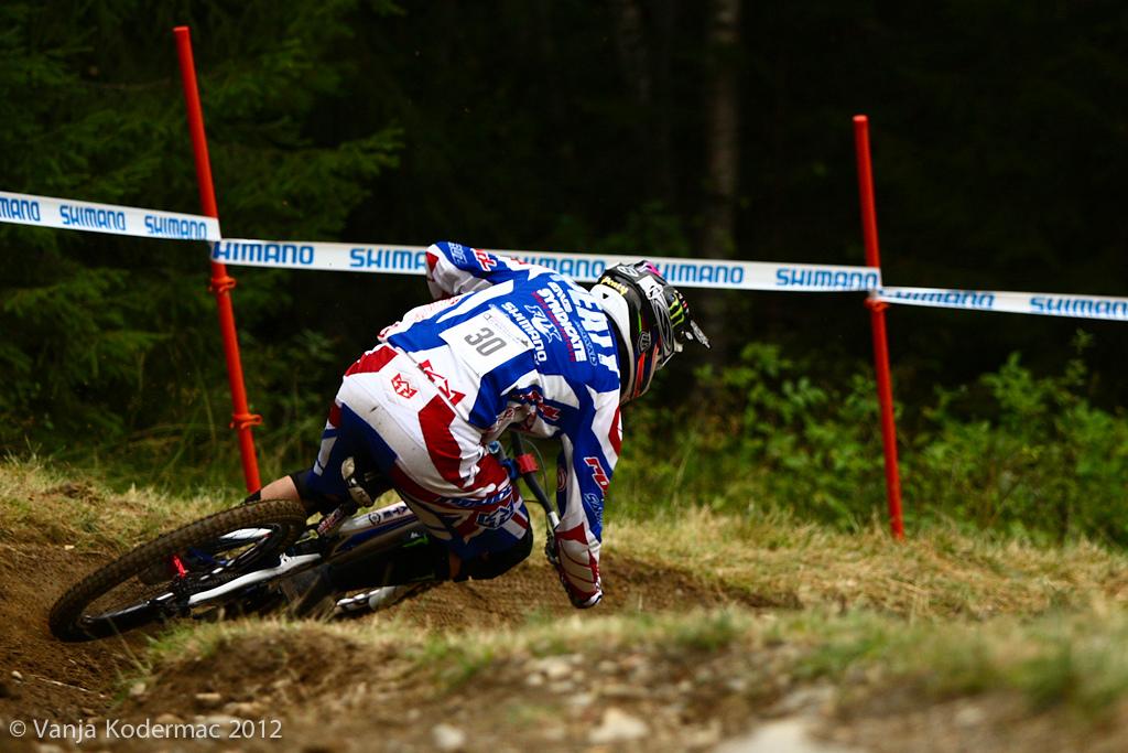 Never back down! Steve Peat, 10th fastest!