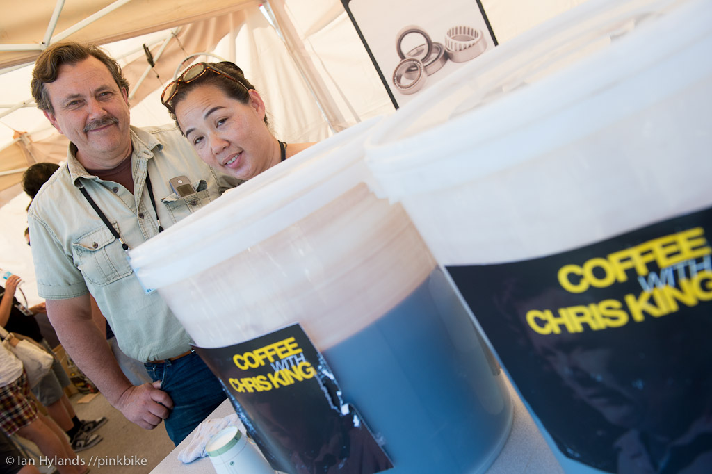 Chris King was serving up great iced coffee all day and a good dose of intelligent conversation as well.