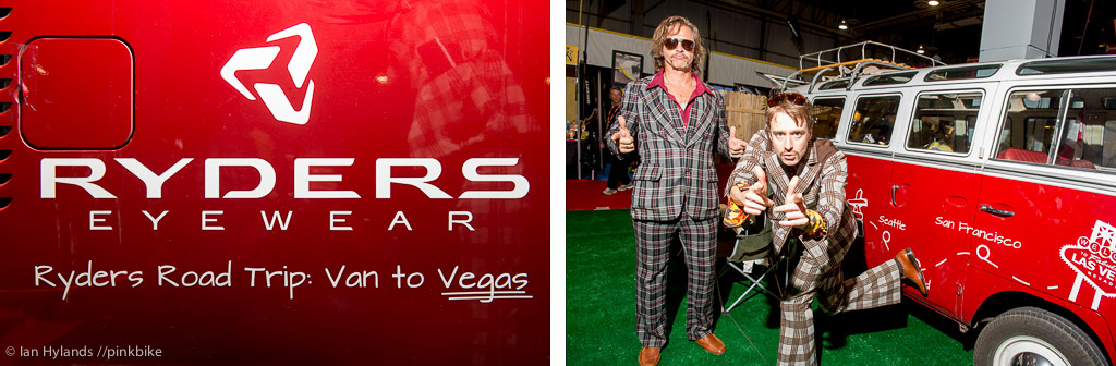 Ryders Eyewear drove their VW window van to Vegas epic road trip. I saw more than a few window vans at the show is this a trend