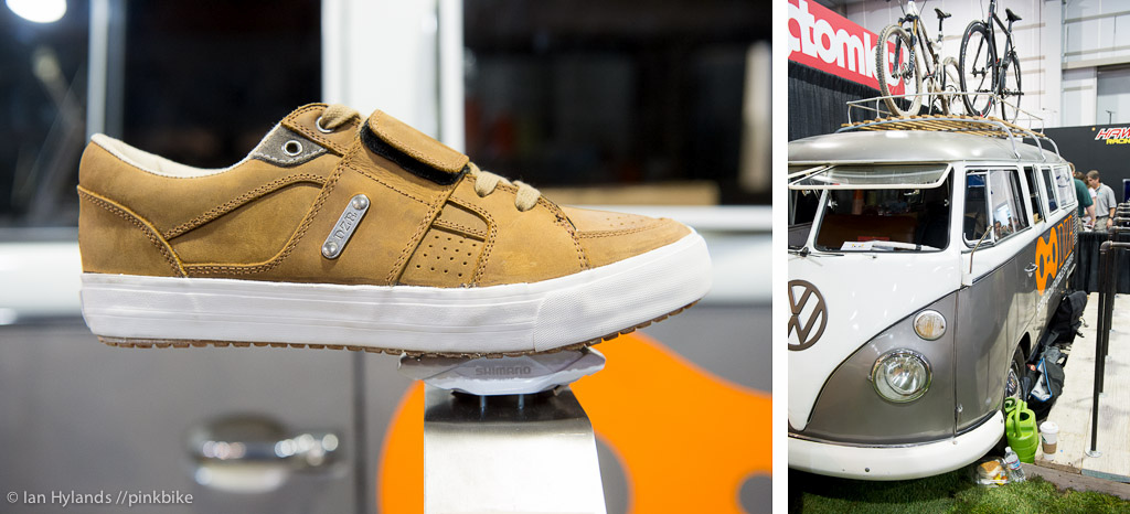 DZR makes waterproof SPD compatible sneakers. And they brought a sweet VW window van as well.