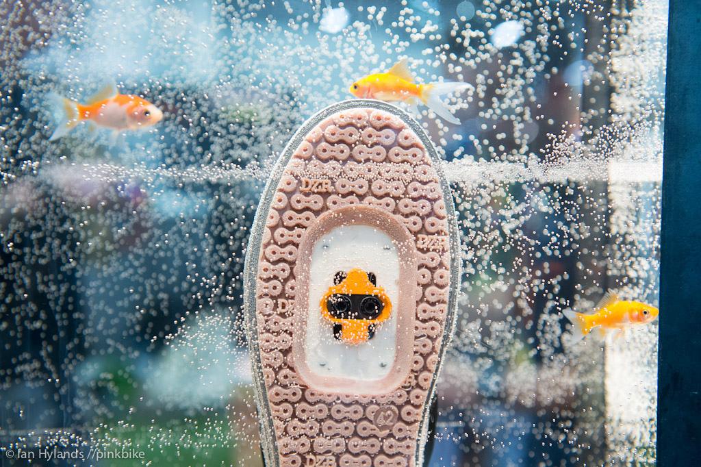 Yup waterproof shoes...
