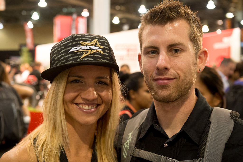 I ran into the enduro racing duo of Dennis Yuroshek and Carolynn Romaine at the show today...