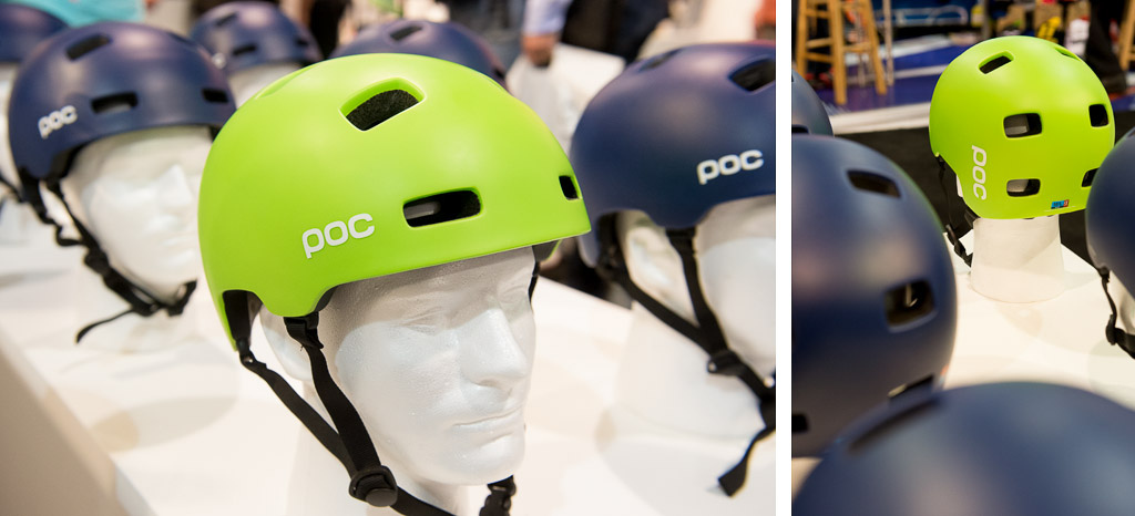 POC has a new half shell helmet the Crane which combines a light weight dual density foam liner with a sturdy puncture and impact resistant outer shell
