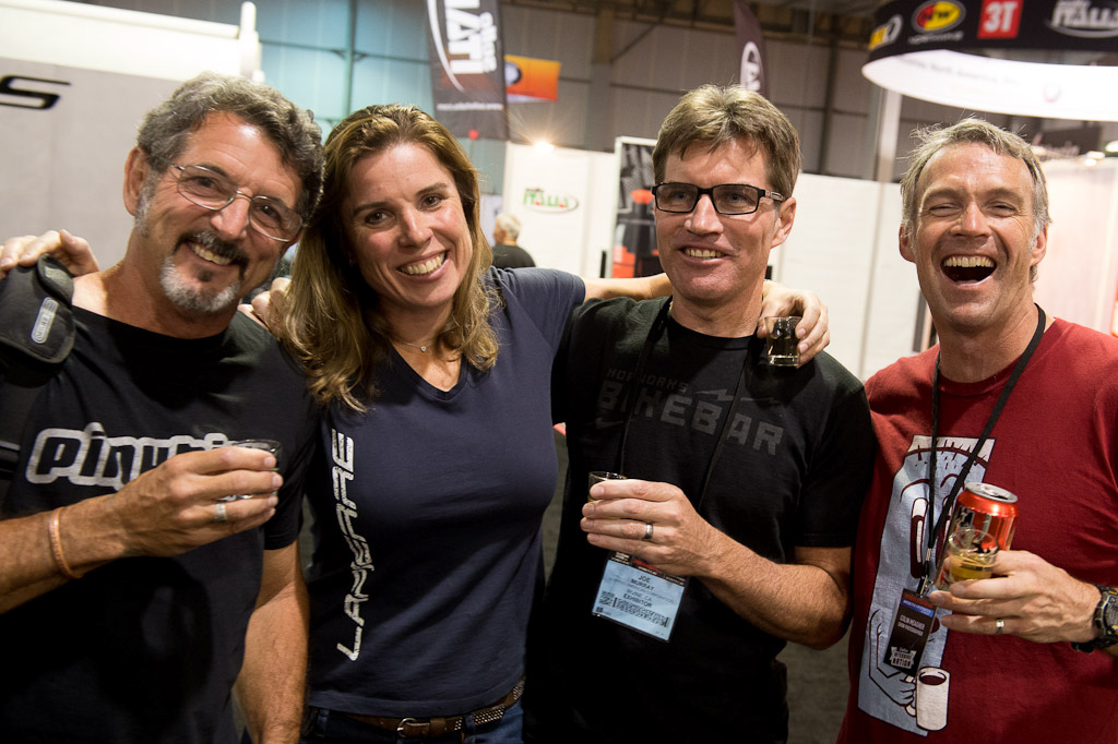 Richard Cunningham Lorna Schouten Joe Breeze and Colin Meagher hanging out at the show.