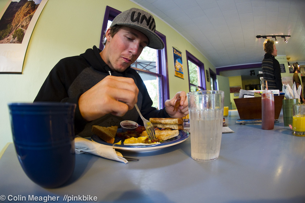 Wheaties ain't got bacon. James Doerfling digs on bacon. Ergo, no Wheaties for the BC Big Mountain Sender.