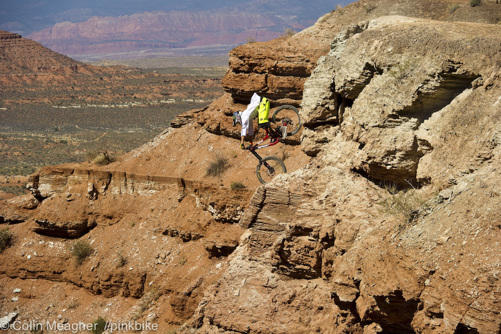 Cam Zink s drop into his Canyon Gap run in is alsmost as hairy as the canyon gap itself.
