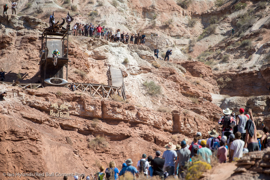 Antoine Bizet rides to second place at Red Bull Rampage in Virgin Utah on 7 October 2012
