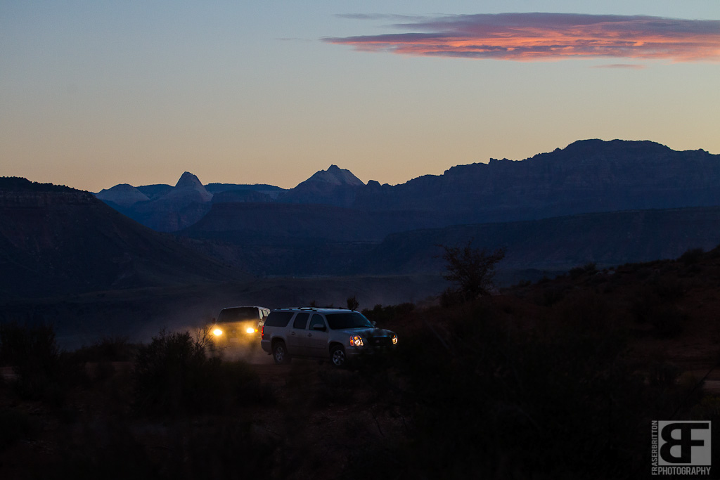 Rampage starts good and early on game day. 7am and there was a fleet of riders and crew in rental SUVs making their way the 4 miles of rutted out dirt road to the venue.