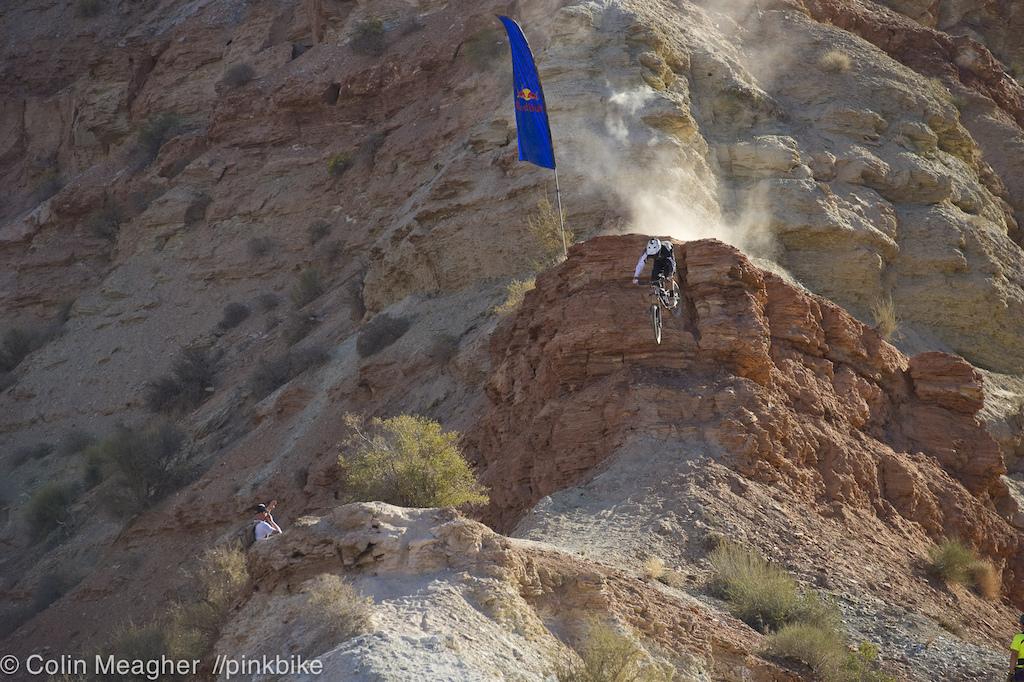 Brett Rheeder chasing the light down Ridge 1.