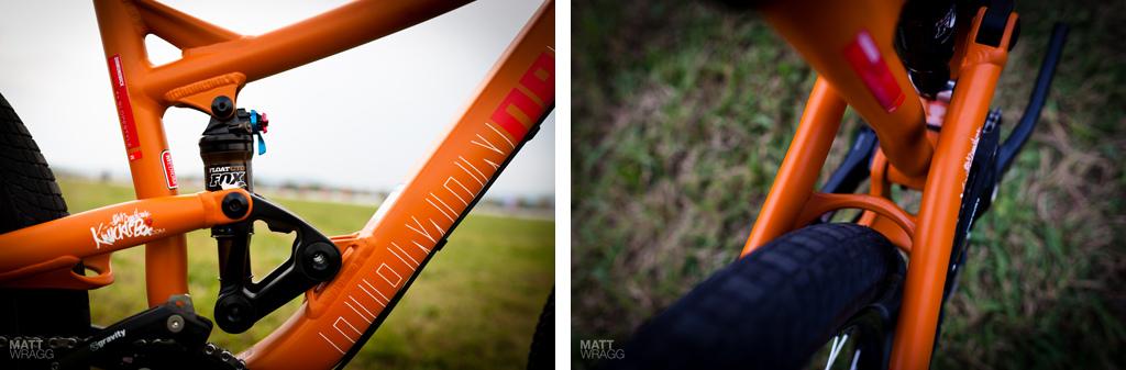 Diamondback prototype slopestyle bike details 2