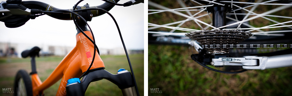Diamondback prototype slopestyle bike details 1