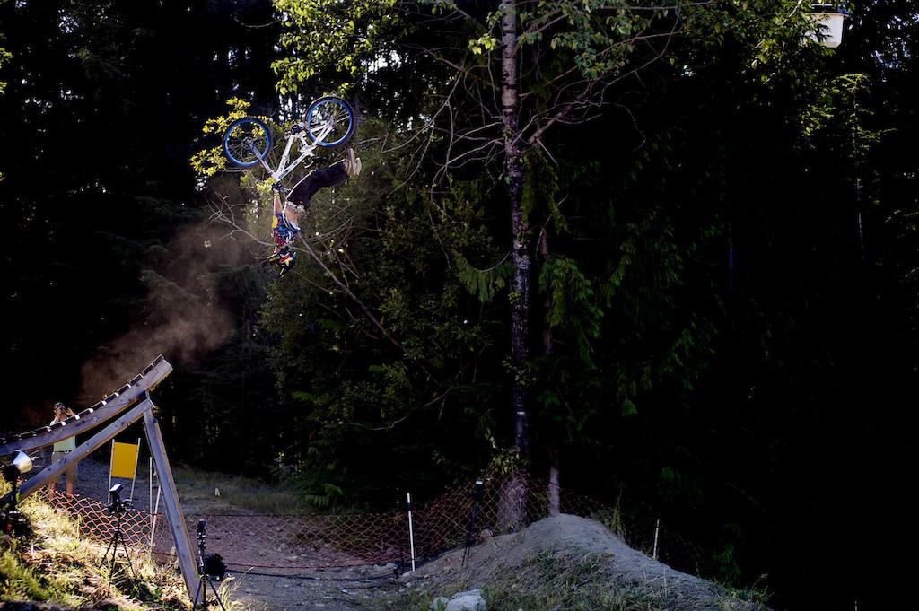 Cameron McCaul doing a superflip during Crankworx in 2008 I think.