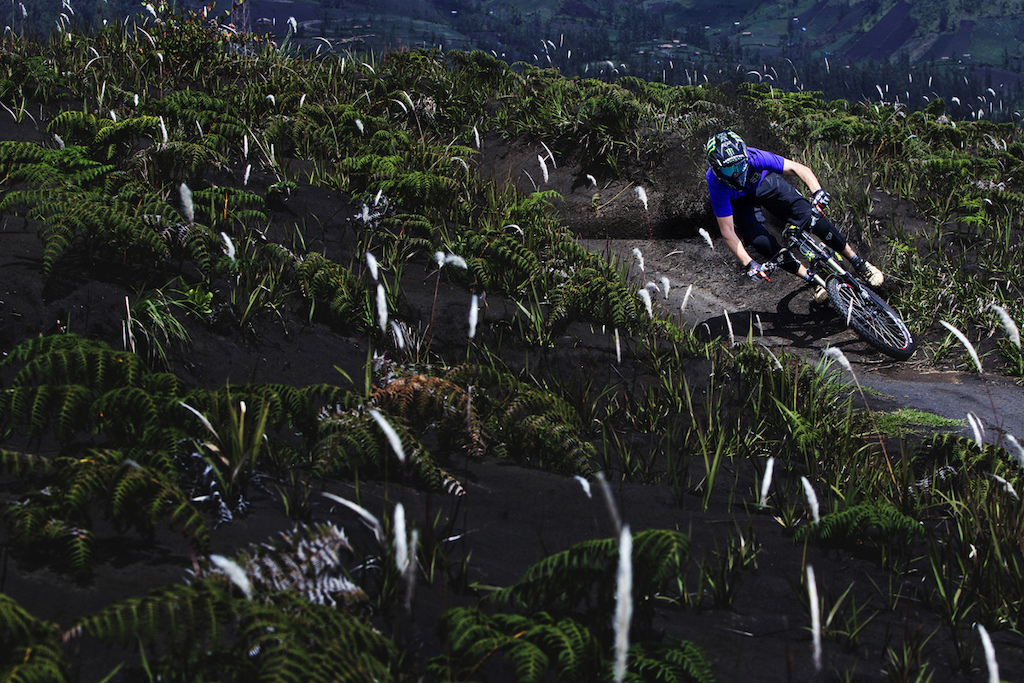 Sam Reynolds doing his thing between film sessions and loads of interviews at Mount Bromo Indonesia.