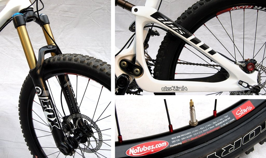 Ibis Mojo HD Fox 36 RLT fork Dual-link rear suspension Stan s NoTubes ZTR Flow rims.