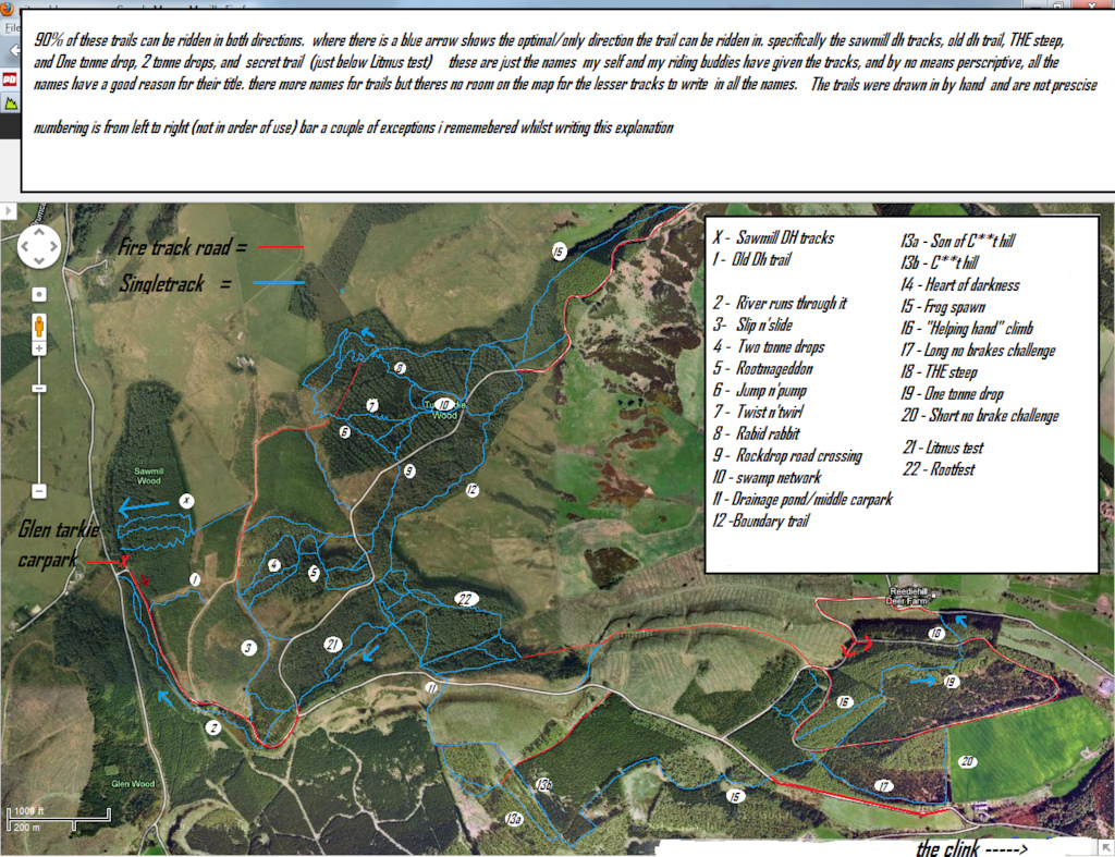 map of pitmedden trail network