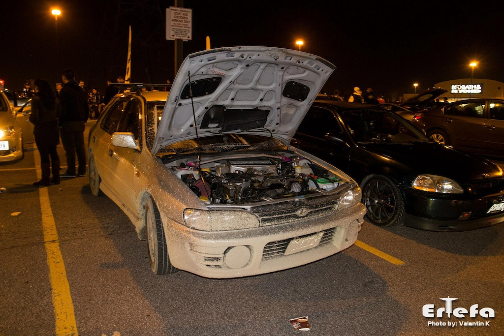 my scoobie sti wagon.. not the cleanest car in the show :/