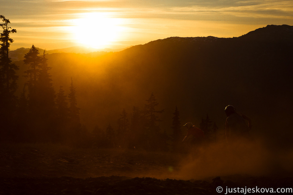 One of many great sunsets in Whistler this summer.