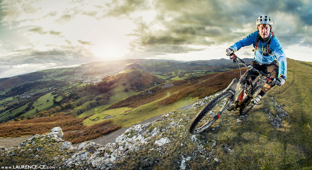 Taking in the big mountain riding that Llangollen, North Wales has to offer and making sure your at the top when that light goes golden! - Laurence CE - www.laurence-ce.com