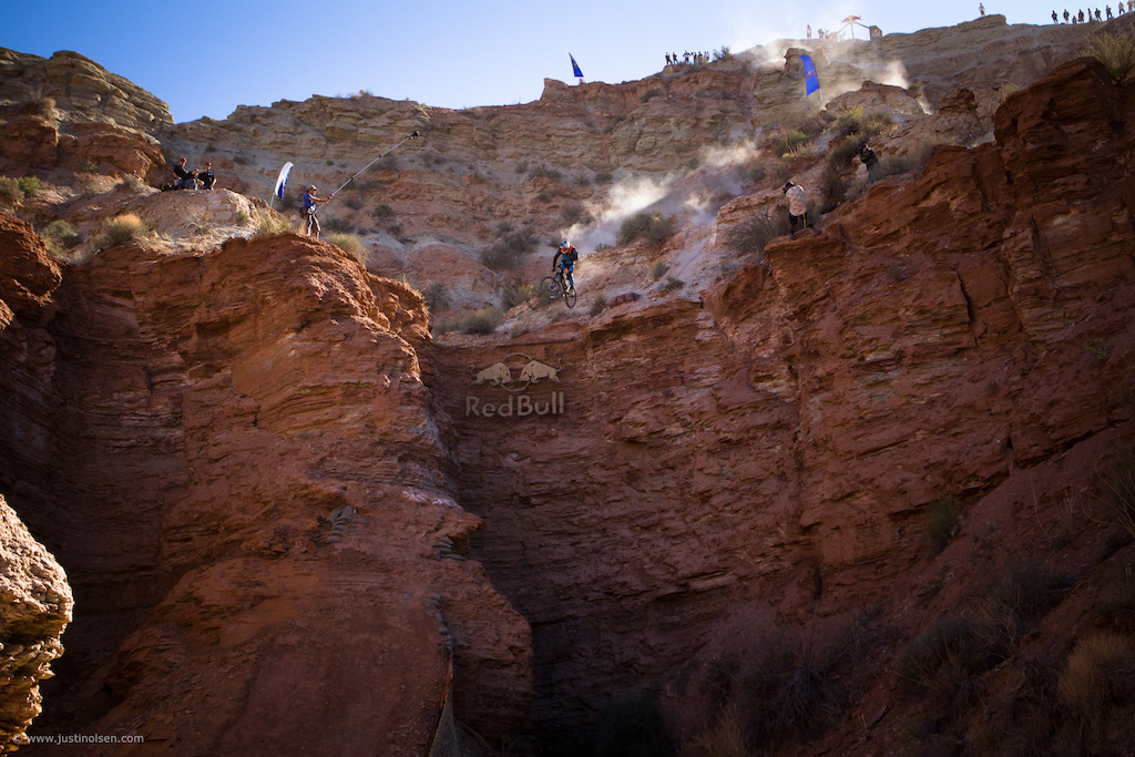 Over the last 10 years, Rampage has progressed far beyond what the original riders, builders, and organizers ever thought was possible. This year the limit was pushed beyond reason once again. This was without a doubt the biggest hit of the event. Brandon Semenuk, Top to Drop, Red Bull Rampage 2012.