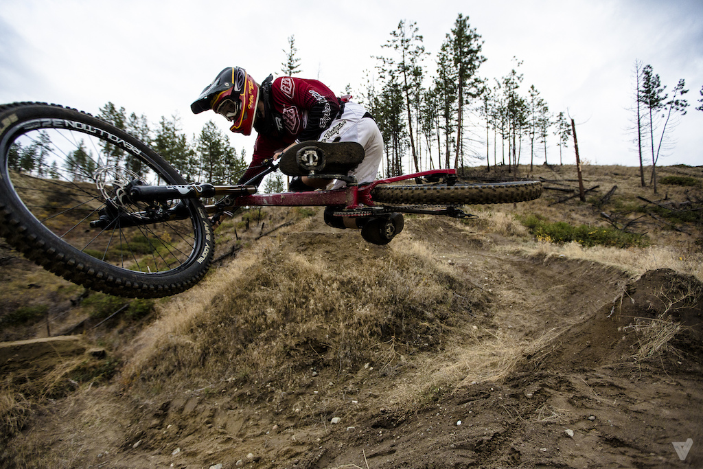 Getting flat out of the berm gap!