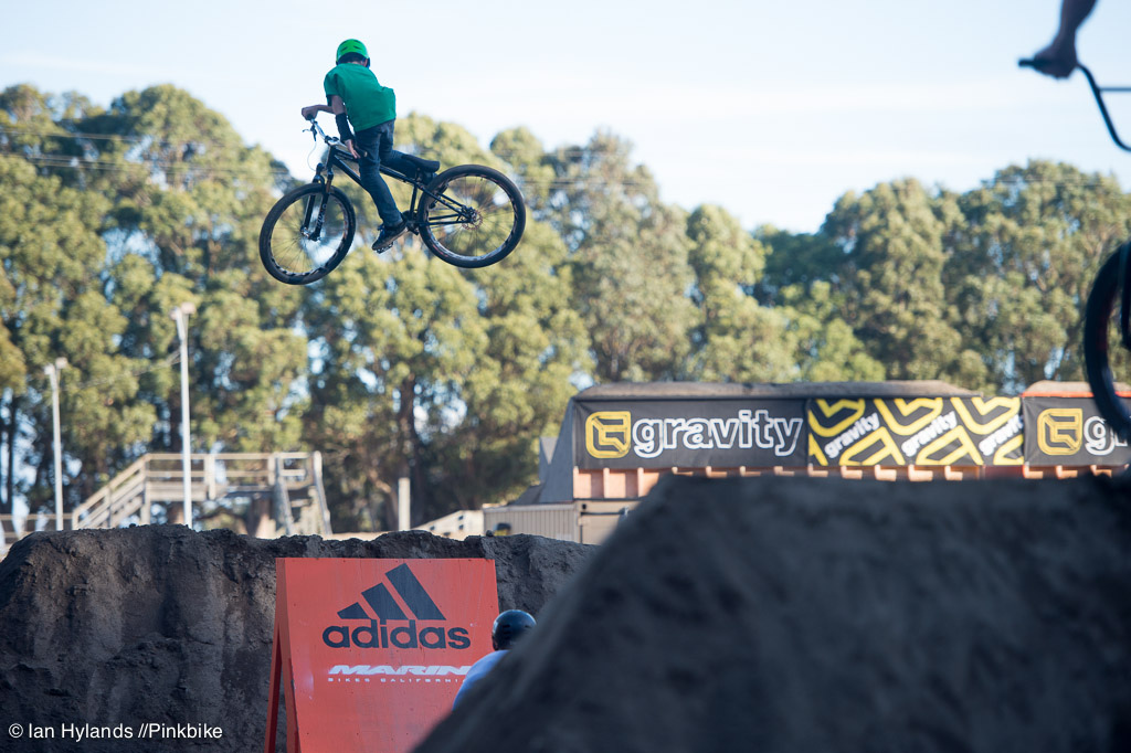 Connor Gallant getting all sideways on the little set. Probably one of the better whips of the day