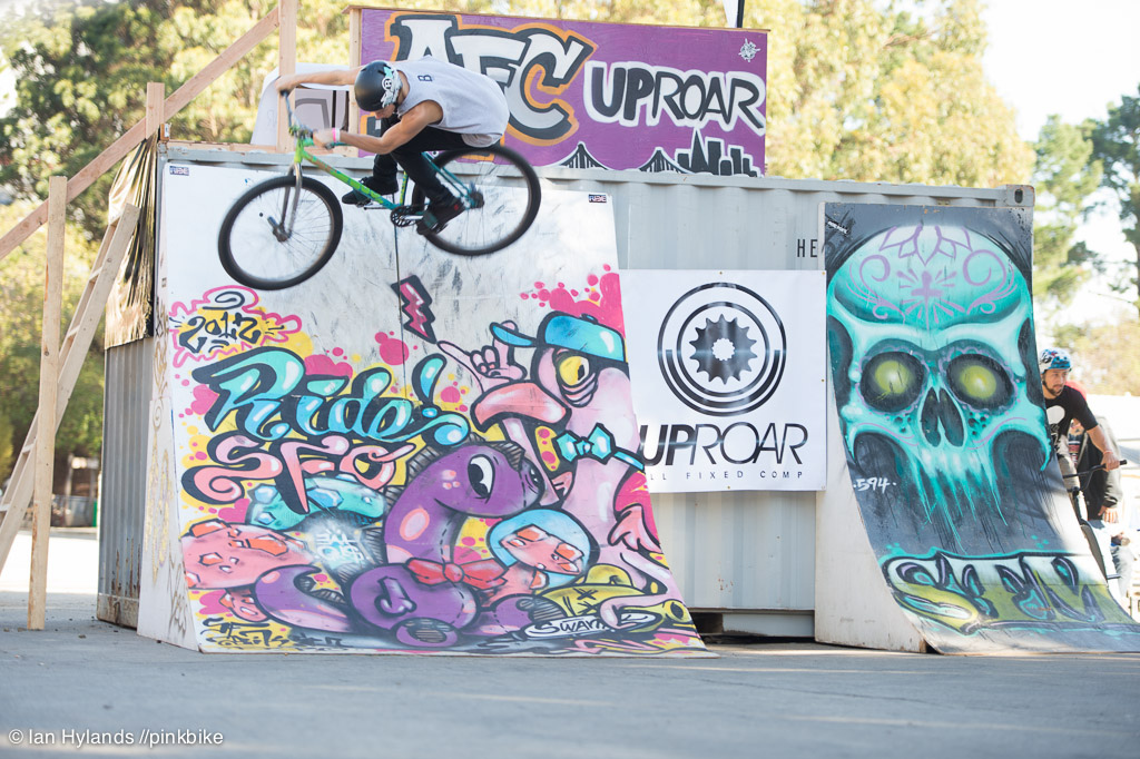 The fixed gear street thing is taking off big time and these guys have some serious skill...