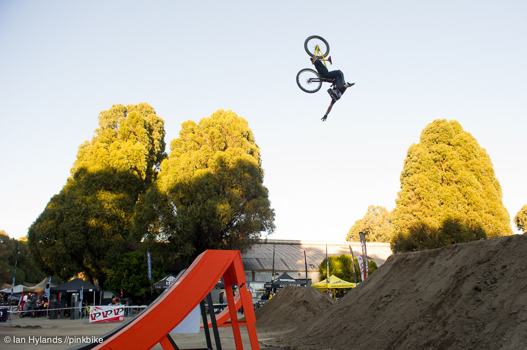 Tom Vansteenbergen was throwing front tuck no handers over the big set all afternoon. I think he did three of them.