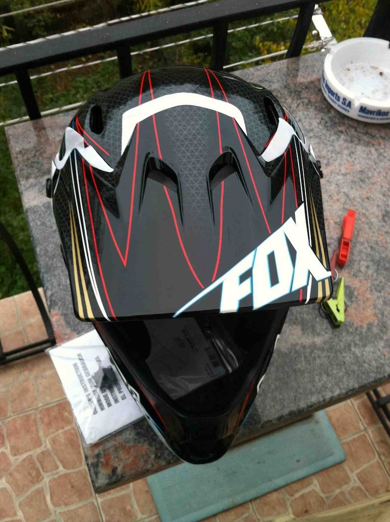 My new helmet, Fox Rampage! So hot!!!