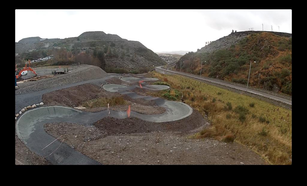 New Jump track at Antur Stiniog Dwon hill centre, Ffestiniog North Wales.