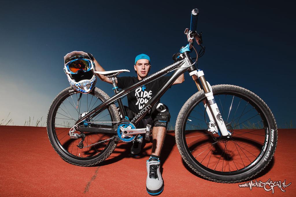 Remek Oleszkiewicz with his super fast Phantom bike.