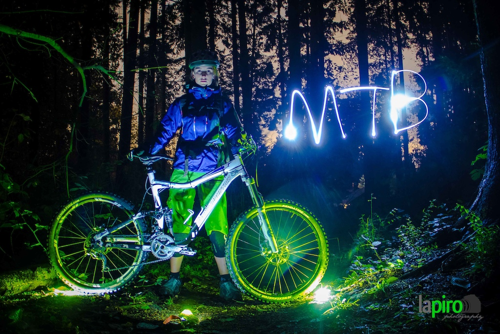 Took this photo of my friend Tahnee in some lynn Vally trail. 20 sec exposure, we used some leafs on top of the lights to make it look green. FUN!