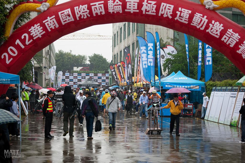 Rain didn t keep the people away.