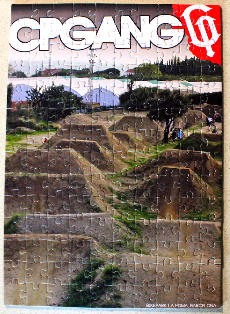 "We took a dope picture of the infamous dirt jumps of ""La Poma"" and turned it into a puzzle. Available only for a Limited time on www.shopcpgang.bigcartel.com"