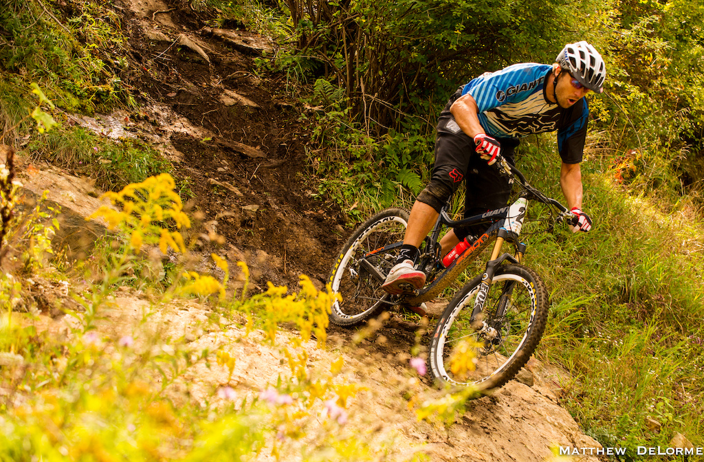 This picture was shot by Matt DeLorme at the Mountain Creek King of the Mountain Enduro this past September. This was the final stage and I knew if I had a solid run I had a good shot of finishing in first place.  I'm not sure if I'm gasping for breath or letting out a sigh of relief because when I got to this point I knew the most difficult parts of the track were behind me. I ended up finishing first and I plan to do some more racing in the future.