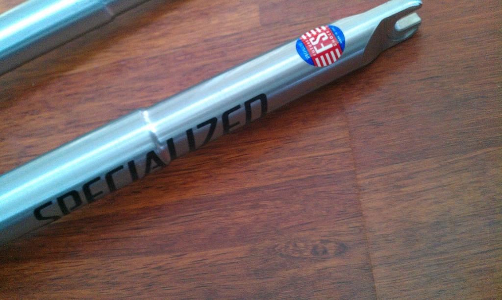"Specialized FS fork ""NOS"". 1"" threaded steerer."