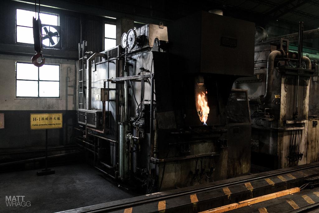 The heat treatment machine.