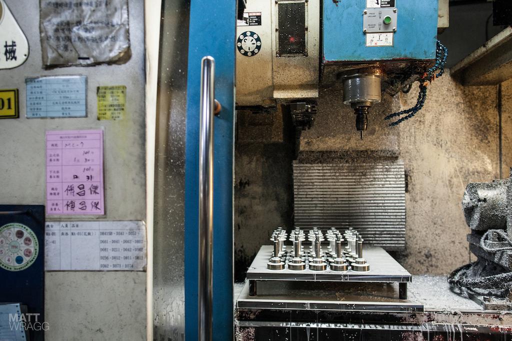 The CNC machine.