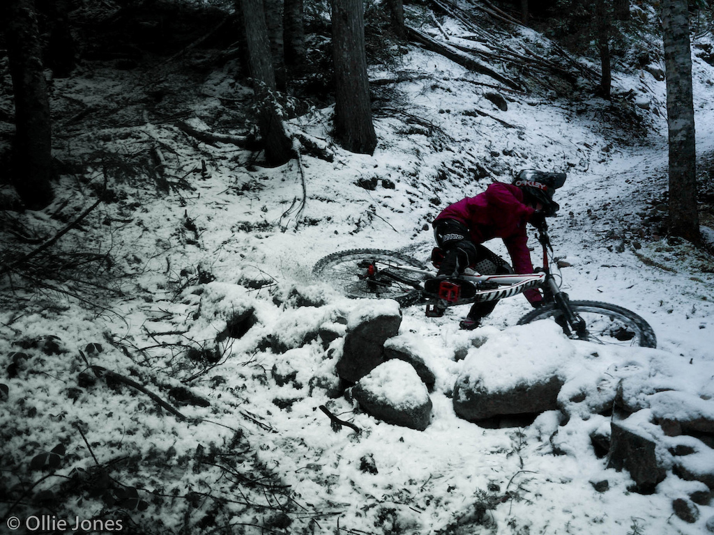 Riding happens all year even in Whistler winter