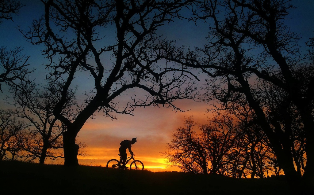 Wrench Science Flow Team rider Joe Bernard riding off into the sunset