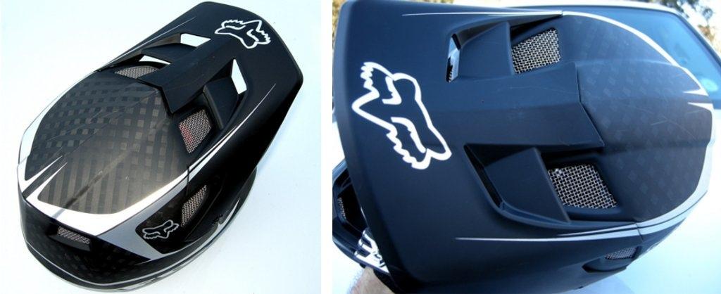 Rampage Pro Carbon Helmet, 2013 visor details