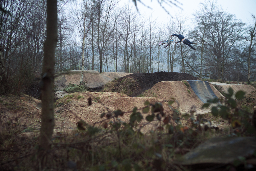 Super(ish)whip in classic British weather... Had fun riding bikes the other day even though it was pouring down with rain all day! Thanks to Alex Mansell for helping out with taking the photo!