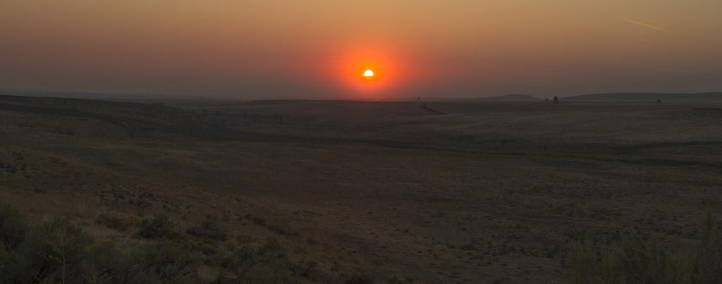 Sunset over the haze
